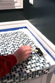 how to paint tile countertops
