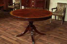 round dining room sets with leaf. 48 Round Table On Mahogany Base Dining Room Sets With Leaf