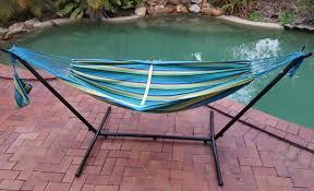 free standing hammock.  Free Teal Blue Free Standing Hammock By Pool Intended N