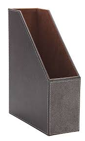 Faux Leather Magazine Holder Amazon Osco Faux Leather Magazine Rack Brown Office Products 15