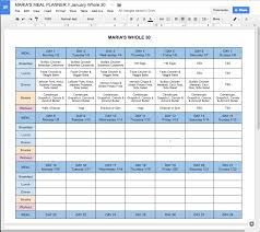 Free Online Whole30 Meal Planner Free Meal Planner Meal