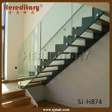 china modern design frameless glass railing stair maunfacture china straight stair stair parts