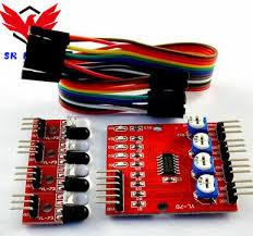 1pcs/Lot <b>4ch Channel</b> Way <b>Infrared IR Tracing</b> Sensor Line Follow ...