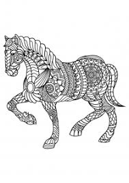 Horses Coloring Pages For Adults