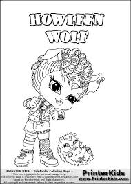Small Picture Baby Monster High Coloring Pages Monster High Howleen Wolf