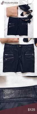 Zadig And Voltaire Size Chart Zadig Voltaire Black Denim Zipper Skirt Edgy Black Denim