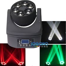 2x small led bee eye beam moving head light 6x15w rgbw 4in1 led stage dj lighting