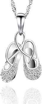 GemsChest 925 Sterling Silver Childrens Ballerina ... - Amazon.com