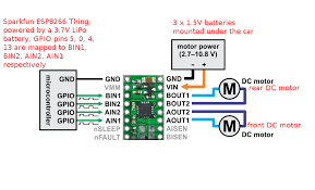 how to control an rc car over wifi esp8266 that which pololu drv8833 wiring diagram