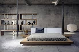 arata platform bed in walnut