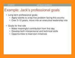 Short Term Professional Goals 10 11 Short Term Career Goals Examples Elainegalindo Com