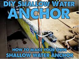 diy shallow water anchor part kits