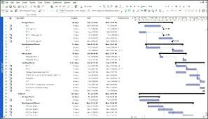 Sample Project Plans In Ms Project Ms Project Schedule Template