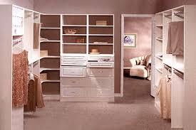 walk in closet in white melamine