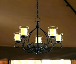 hanging candle chandelier non electric wrought iron bulbs convert to