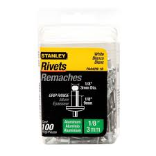 medium aluminum rivets 100 pack