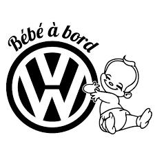 stickers bÉbÉ a bord vw