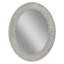 oval mirrors for bathroom. Deco Mirror 23 In. X 29 Opal Mosaic Oval Mirrors For Bathroom 0