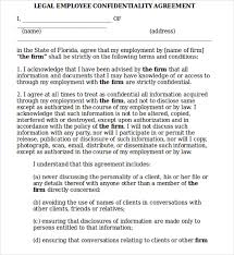 Employee Confidentiality Agreement 9+ Legal Confidentiality Agreement Templates | Sample Templates