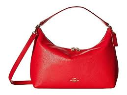 COACH Pebbled Leather East West Celeste Convertible Hobo at 6pm