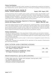Mock Resume Sample Professional Resume Format Choose Executive ...