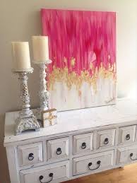 diy wall decor for bedroom. diy wall decor ideas for bedroom captivating pink painting canvas abstract