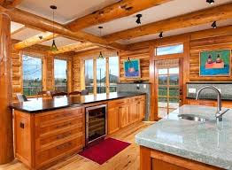 plans were used define interior spaces maintain open floor plan log cabin homes