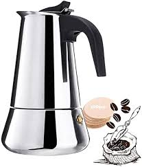 They are far cheaper and just the same quality. Amazon Com Stovetop Espresso Maker 2 Cup 3 38oz 100ml Moka Pot Italian Coffee Maker With Percolator Classic Full Bodied Cafe Maker Machine 430 Stainless Steel Kitchen Dining