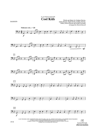 sheet music for kids cool kids bassoon echosmith digital sheet music gustaf
