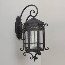 hand forged exterior lighting. spanish style outdoor lighting/ fixture lightsoftuscany.com hand forged exterior lighting e