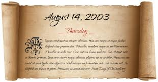 Image result for August 14, 2003