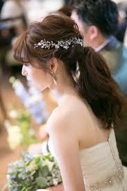 ウェディングのヘアスタイルアクセサリーカタログ70選写真付き 花嫁