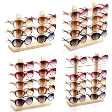 durable wooden sungl eye gl display rack stand holder organizer 3 4 5
