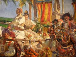 this sorolla painting belongs to the visión de españa collection located in the hispanic society of america each painting represents a region of the
