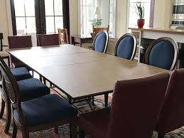 photo rectangular table extended to 10 seats