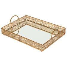 Decorative Platters And Trays Gold Decorative Trays You'll Love Wayfair 49