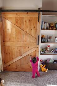 your own barn door just heavy enough to keep the little one out