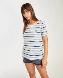 <b>Футболка женская BILLABONG Beach</b> Day Short Slee Blue Stripes ...
