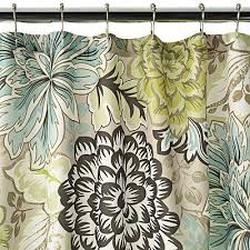 Brilliant Brown And Green Shower Curtains Reiko Curtain By India Ink At Verry Inside Modern Ideas