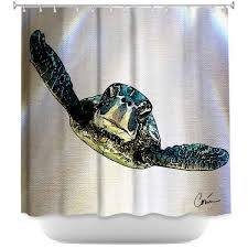 premium shower curtains corina bakke sea turtle i