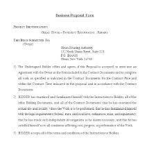 Job Proposal Form New Job Proposal Template New Job Proposal Template Job