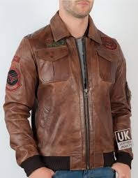 mens vintage tan leather er jacket top fold down leather collar