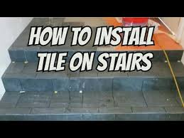 how to install tile on stairs and landing preview