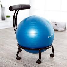 image of exercise ball desk chair on wheel