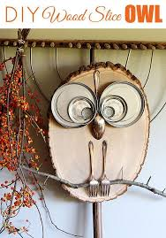 wood slice owl these are the best fall craft ideas home decor