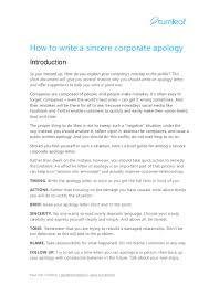 tips for writing a corporate apology letter