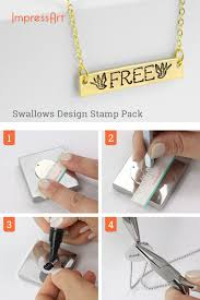 Design Your Own Metal Stamp Swallows Design Stamps 6mm Metal Stamping Stamped