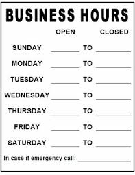 Business Hours Template Ipasphoto