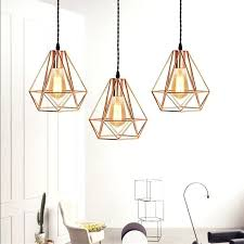 gold cage pendant light plated iron cage pendant lamps rose gold led chandeliers for kitchen restaurant