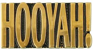 Navy Hooyah Letters Only Pin North Bay Listings